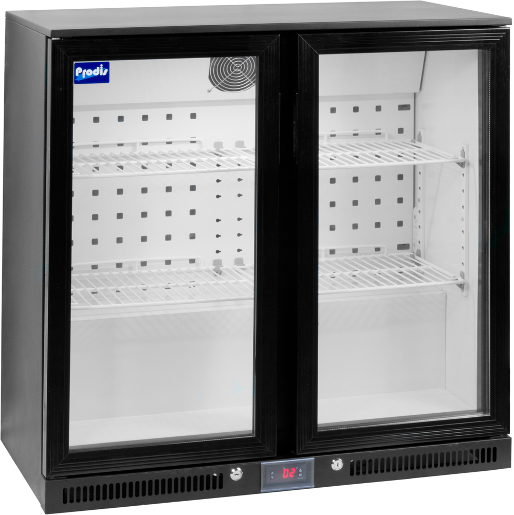 Prodis NT2BHLO-HC Low Profile Double Hinged Door Bottle Cooler - £334.8